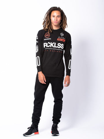 Daytona Long Sleeve - Black/White