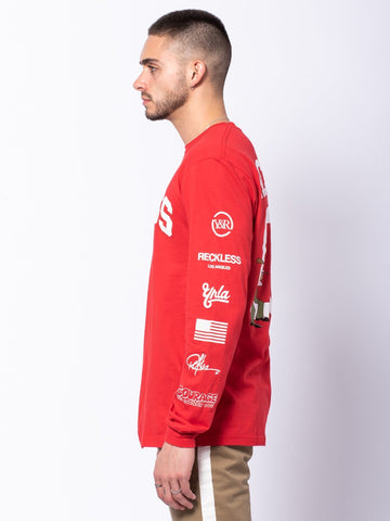 Family Issues Long Sleeve Tee - Red