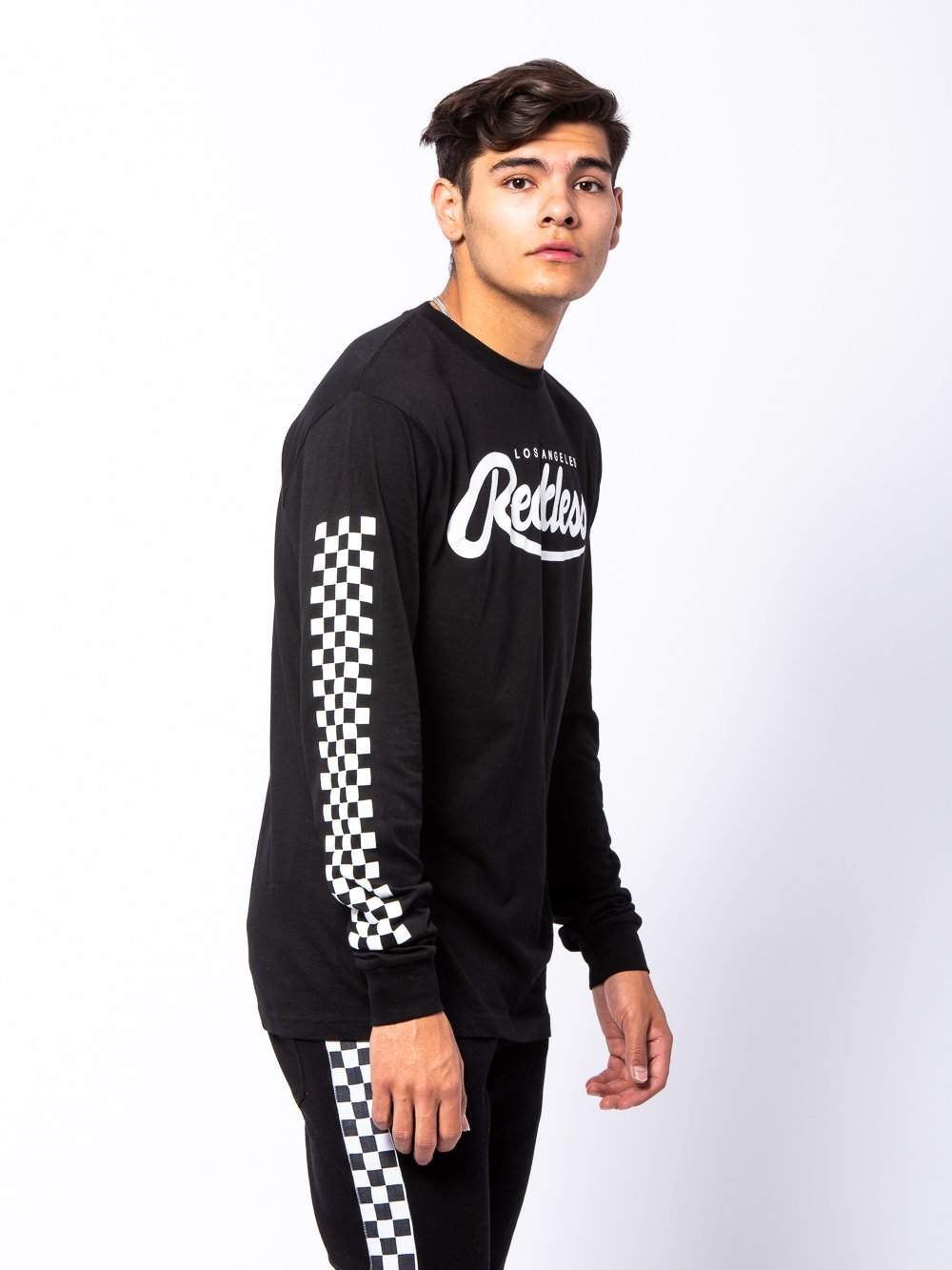 Young and Reckless Mens - Tees - Long Sleeve Full Track Long Sleeve - Black/White