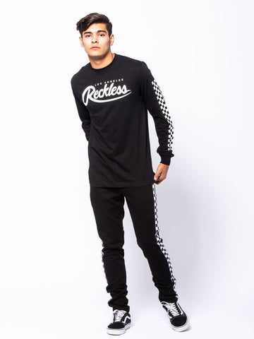 Full Track Long Sleeve - Black/White