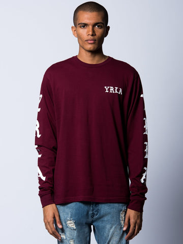 Young and Reckless Mens - Tees - Long Sleeve Fury Long Sleeve- Burgundy