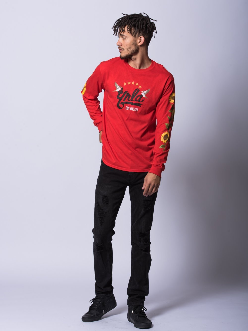 Young and Reckless Mens - Tees - Long Sleeve Haiden Long Sleeve- Red