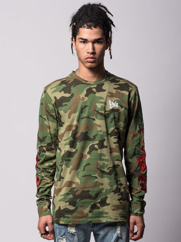 Young and Reckless Mens - Tees - Long Sleeve Hawker Long Sleeve - Camo