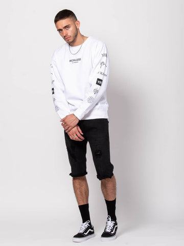 Head 2 head Crewneck Sweater - White