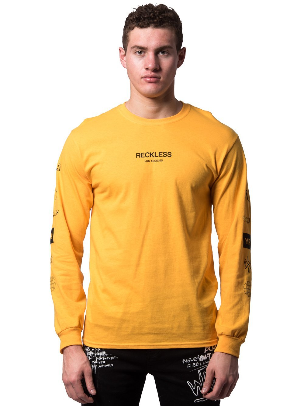 designer fashion 55d3e a4068 Young and Reckless Mens - Tees - Long Sleeve Head2Head Long Sleeve - Yellow