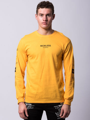 Young and Reckless Mens - Tees - Long Sleeve Head2Head Long Sleeve - Yellow