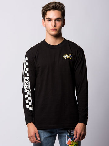 Young and Reckless Mens - Tees - Long Sleeve Home Stretch Long Sleeve - Black
