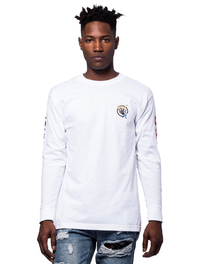 Young and Reckless Mens - Tees - Long Sleeve Icon Long Sleeve - White
