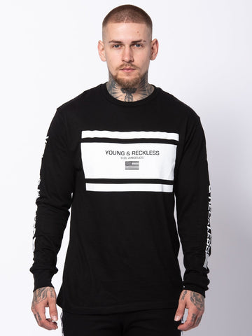 Young and Reckless Mens - Tees - Long Sleeve Incorporated Long Sleeve - Black