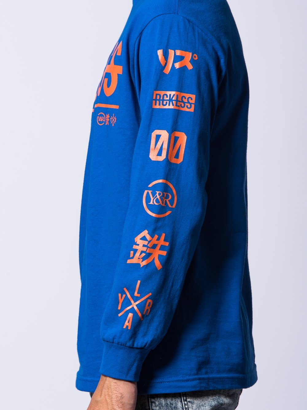 Young and Reckless Mens - Tees - Long Sleeve Kyoto Team Long Sleeve- Royal