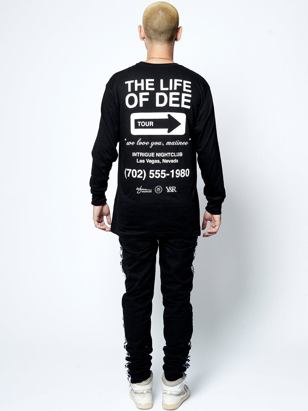 Young and Reckless Mens - Tees - Long Sleeve Life of Dee Long Sleeve - Black/White