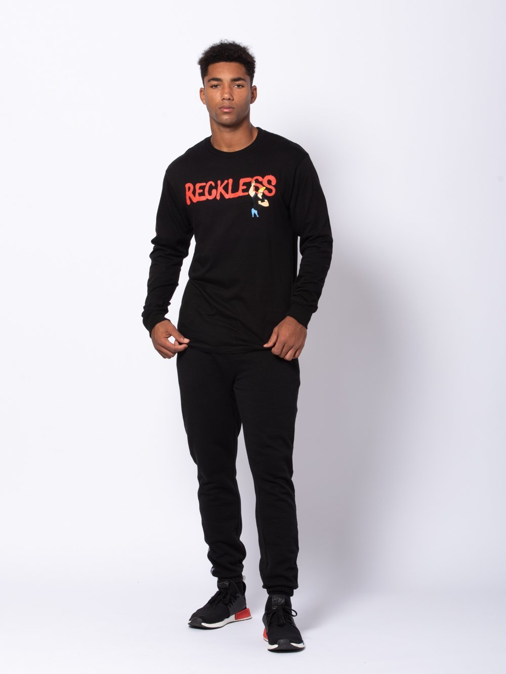 Young and Reckless Mens - Tees - Long Sleeve Mischief Long Sleeve - Black