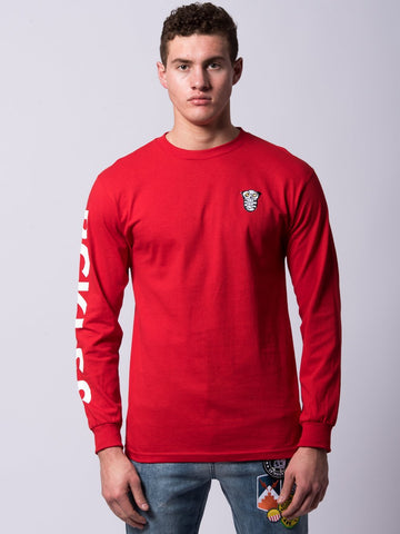 Young and Reckless Mens - Tees - Long Sleeve Nocturnal Long Sleeve - Red