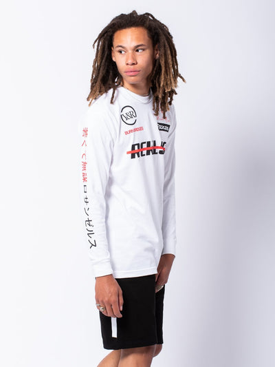 Young and Reckless Mens - Tees - Long Sleeve Pit Crew Long Sleeve - White