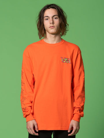 Young and Reckless Mens - Tees - Long Sleeve RCKLSS X PRDY GNG  Bogus Long Sleeve - Orange