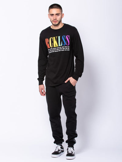 Young and Reckless Mens - Tees - Long Sleeve Spectrum Long Sleeve Tee - Black