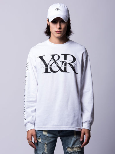 Young and Reckless Mens - Tees - Long Sleeve Staple Long Sleeve- White