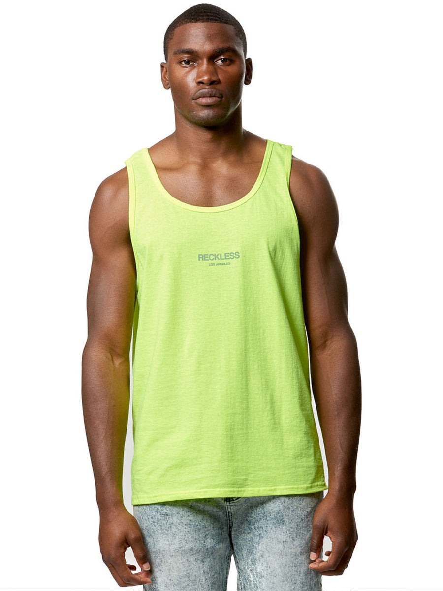 6be9d074986e9 Young and Reckless Mens - Tees - Tank Tops Bravo Tank Top- Safety Green