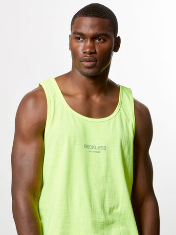 Young and Reckless Mens - Tees - Tank Tops Bravo Tank Top- Safety Green