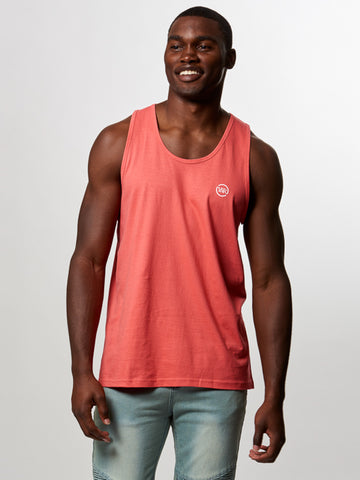 Young and Reckless Mens - Tees - Tank Tops Circle Up Tank Top- Coral