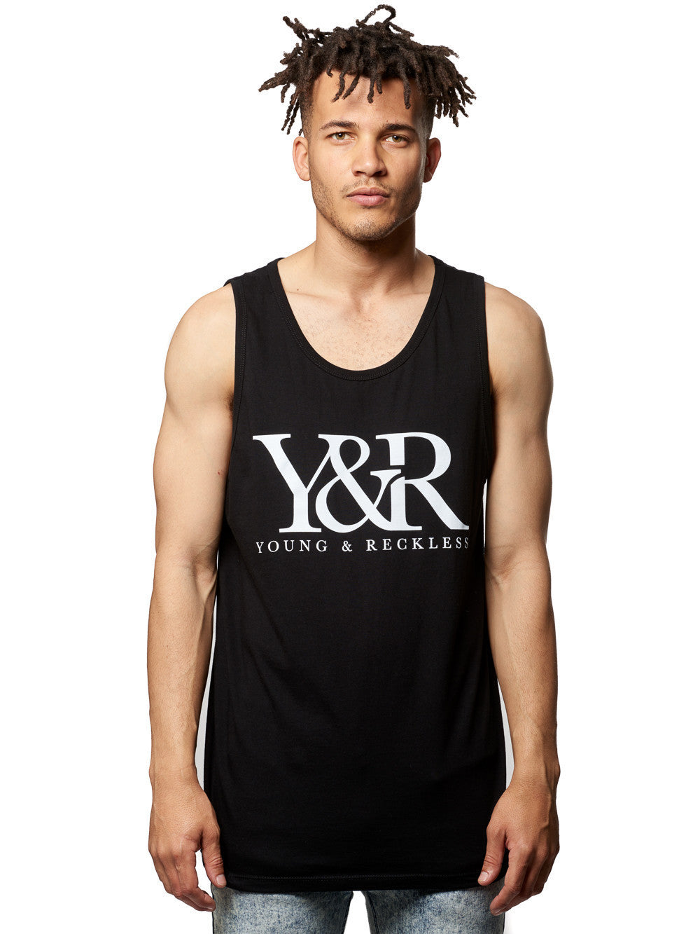 Young and Reckless Mens - Tees - Tank Tops Core Logo Tank- Black