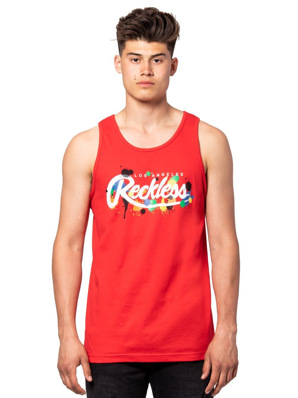 Young and Reckless Mens - Tees - Tank Tops Franz Tank Top - Red