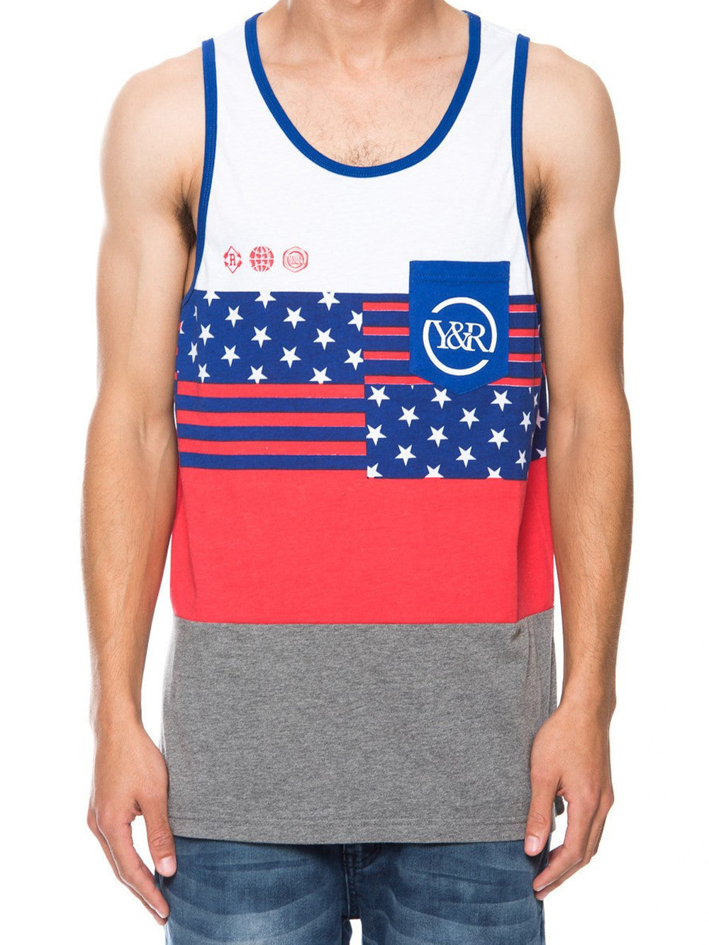 Young and Reckless Mens - Tees - Tank Tops HD Banner Tank - Multi