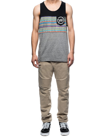 Young and Reckless Mens - Tees - Tank Tops HD Folk Tank - Multi