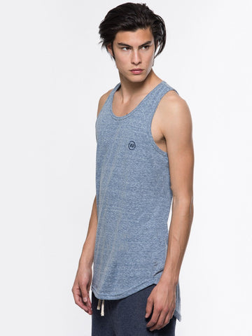 Hector Elongated Tank Top - Blue
