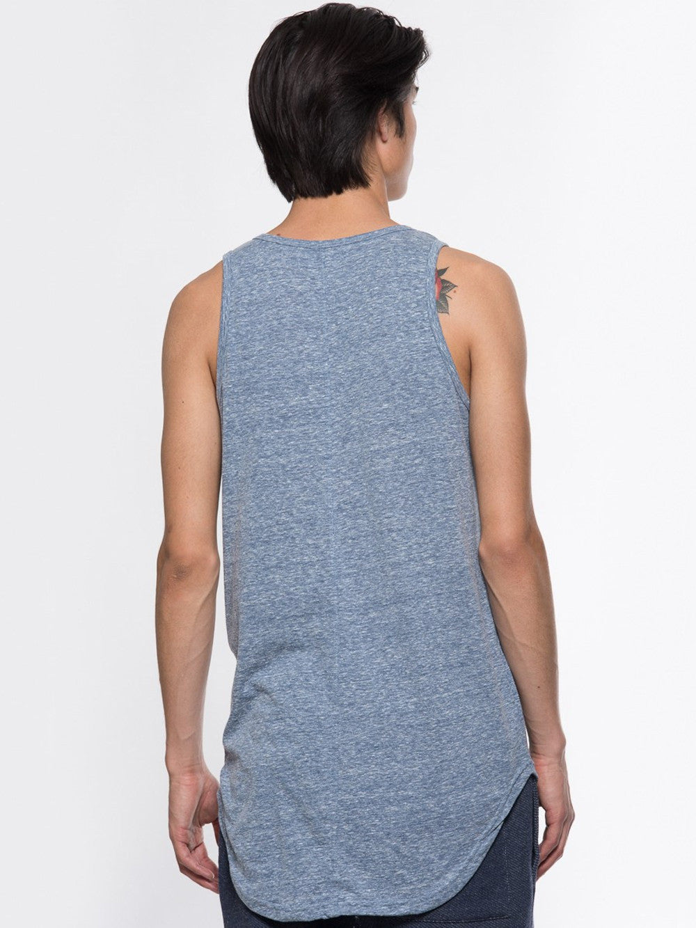 Young and Reckless Mens - Tees - Tank Tops Hector Elongated Tank Top - Blue