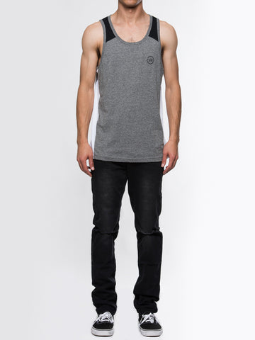 Young and Reckless Mens - Tees - Tank Tops Inverted Tank - Grey