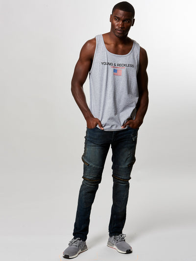 Young and Reckless Mens - Tees - Tank Tops Liberty Tank Top- Heather Grey