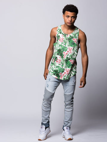 Mini Loop Tropical Tank Top - Tropical Green