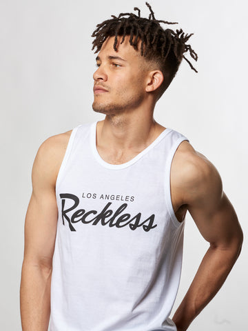 Young and Reckless Mens - Tees - Tank Tops OG Reckless Tank- White