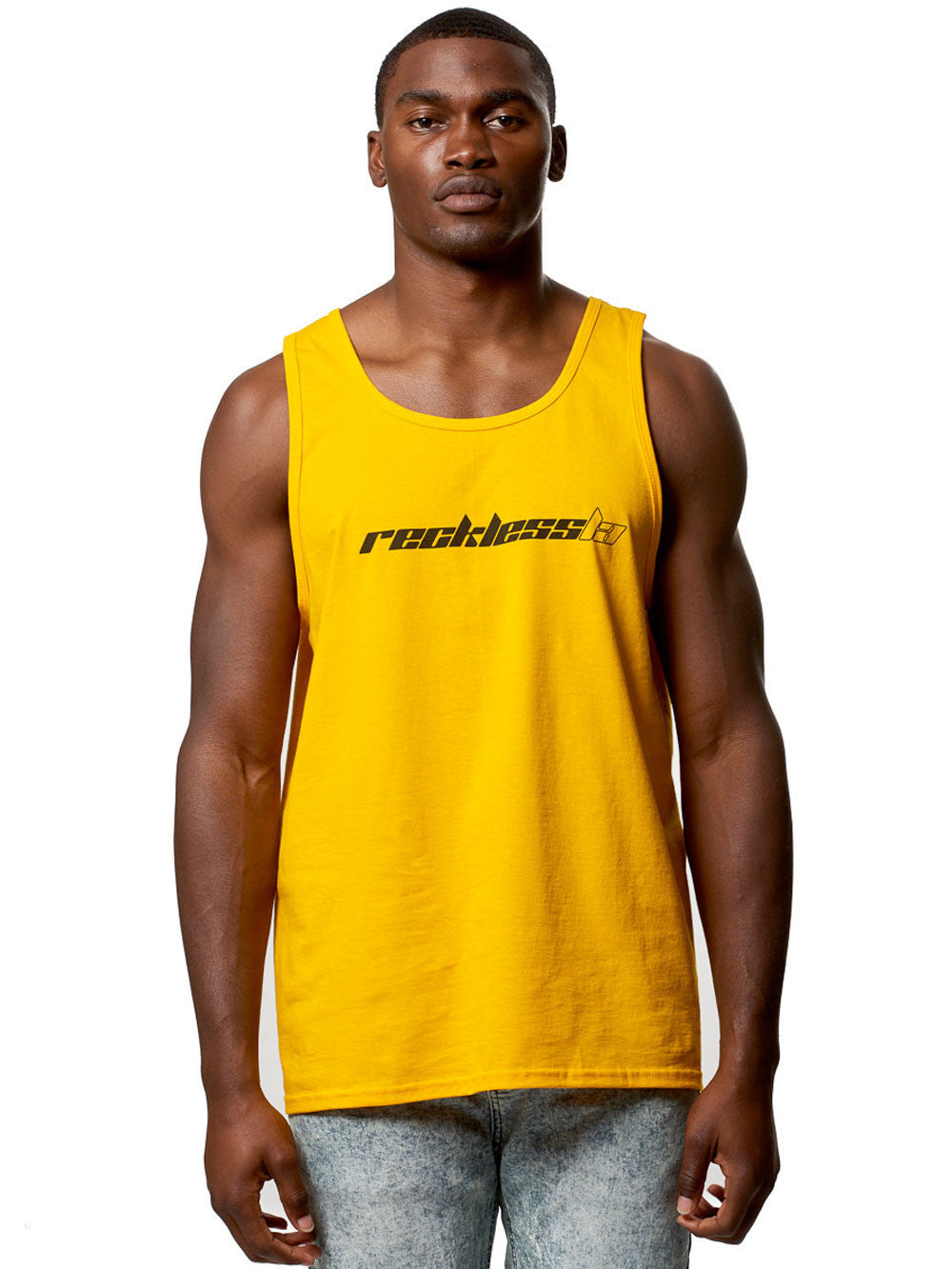 Young and Reckless Mens - Tees - Tank Tops Saint Tank Top- Gold