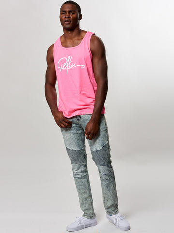 Young and Reckless Mens - Tees - Tank Tops Signature Tank Top- Neon Pink