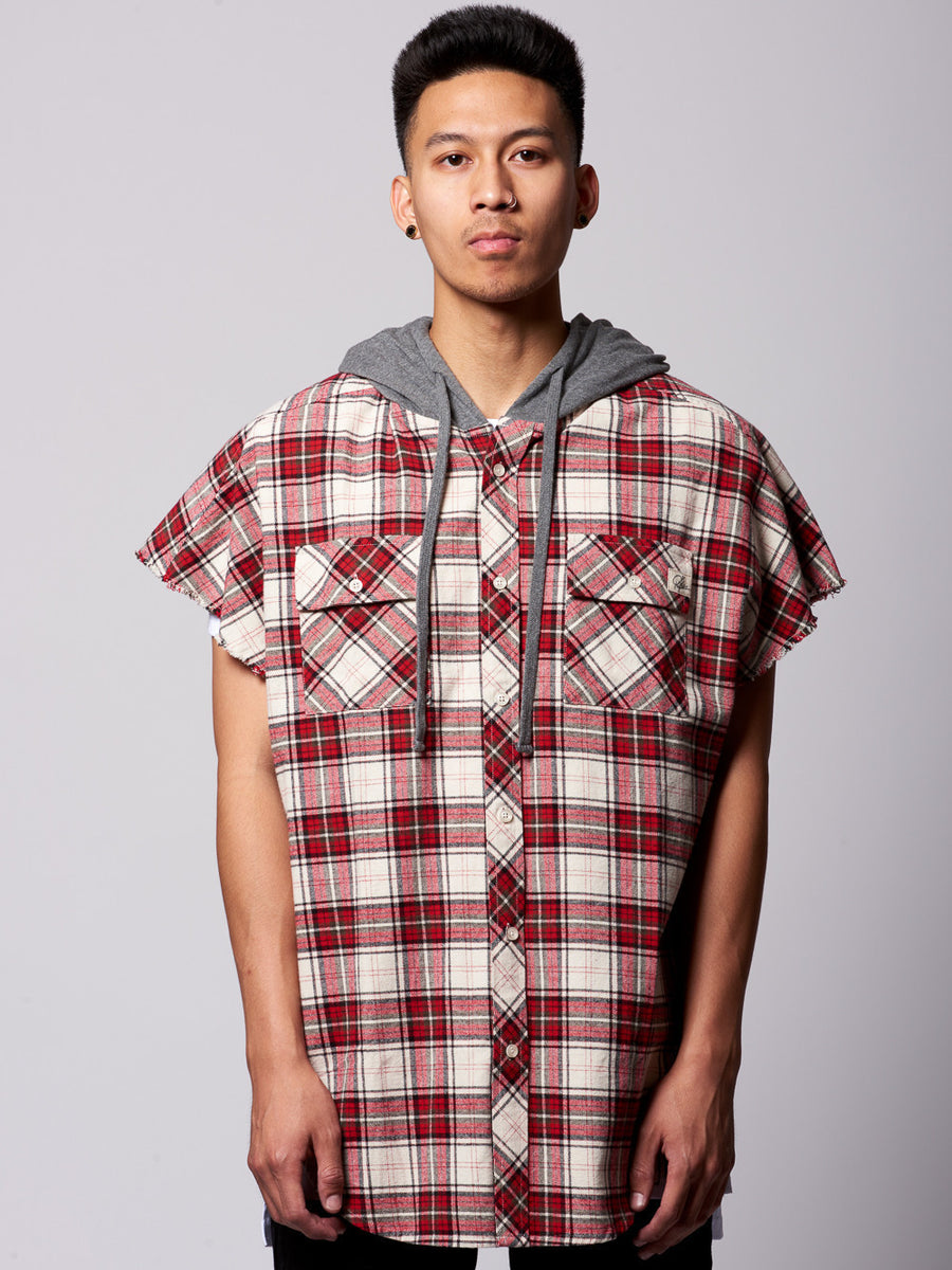 Cerberus Button Down- Red/White
