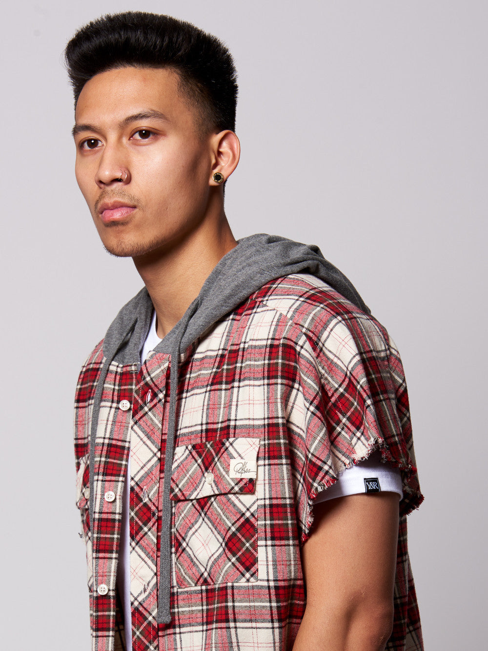 Young and Reckless Mens - Tops - Buttoned Tops Cerberus Button Down- Red