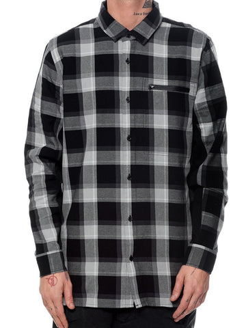 Young and Reckless Mens - Tops - Buttoned Tops Point Flannel - Black