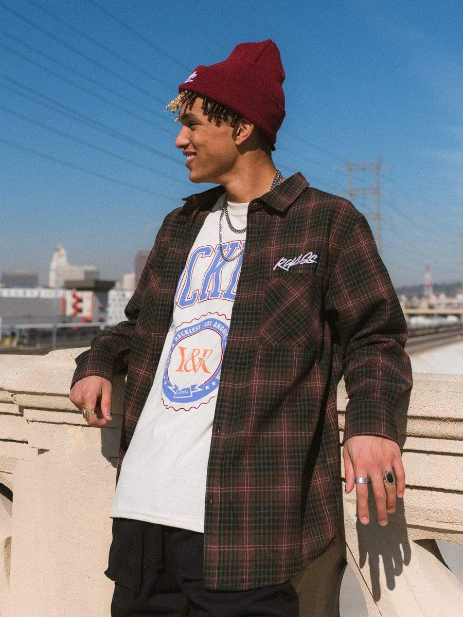 Streak Flannel Shirt - Brown