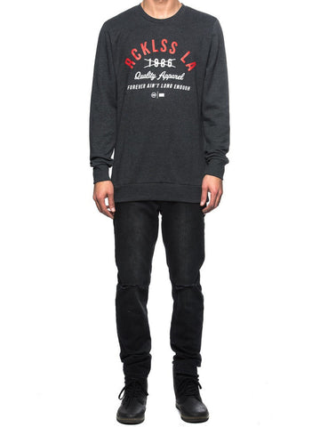 Young and Reckless Mens - Tops - Crewnecks Quality Control Crewneck- Charcoal