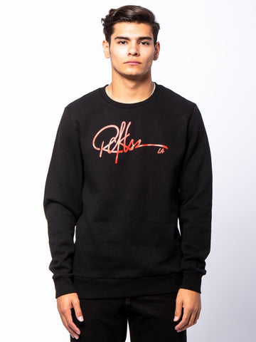 Young and Reckless Mens - Tops - Crewnecks Signature Crewneck Pullover - Black