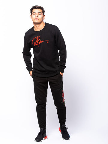 Signature Crewneck Pullover - Black
