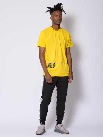 Young and Reckless Mens - Tops - Graphic Tee Aero Tee - Gold