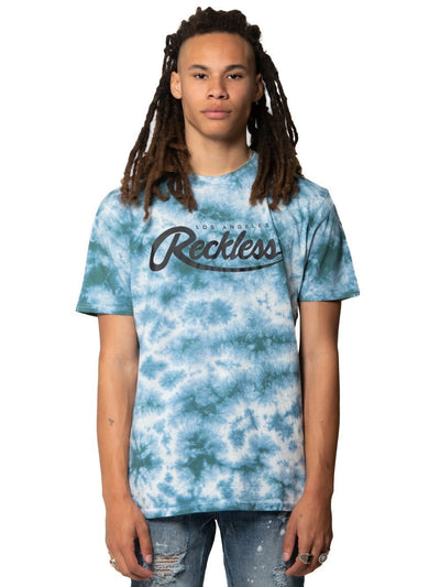 Young and Reckless Mens - Tops - Graphic Tee Against Odds Tee - Mint Tie Dye S / MINT TIE DYE