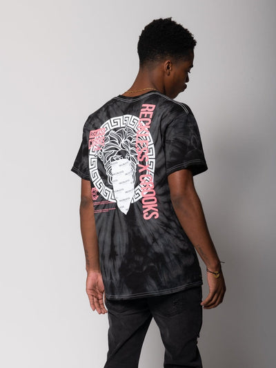 Young and Reckless Mens - Tops - Graphic Tee Bandit Medusa Tee - Black Tie Dye