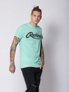 Young and Reckless Mens - Tops - Graphic Tee Big R Script Tee - Ice