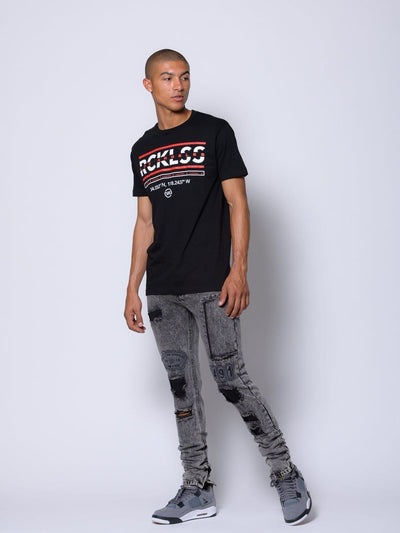Young and Reckless Mens - Coordinates Tee - Black