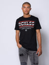 Young and Reckless Mens - Tops - Graphic Tee Coordinates Tee - Black