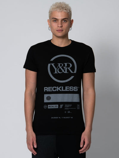 Young and Reckless Mens - Tops - Graphic Tee Corporate Tee - Black